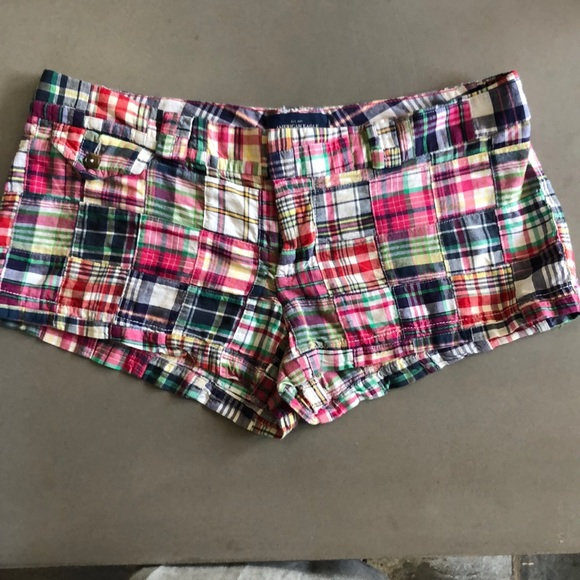 American Eagle Outfitters Pants - AEO  Plaid multicolor cotton shorts 8